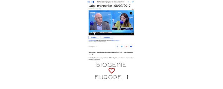 BIOGENIE_EUROPE1_SEPTEMBRE